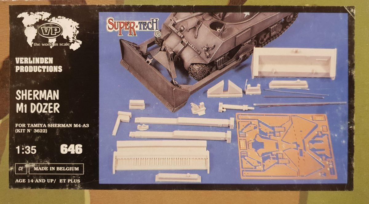 2 Verlinden 646 Sherman M1 Dozer conversion