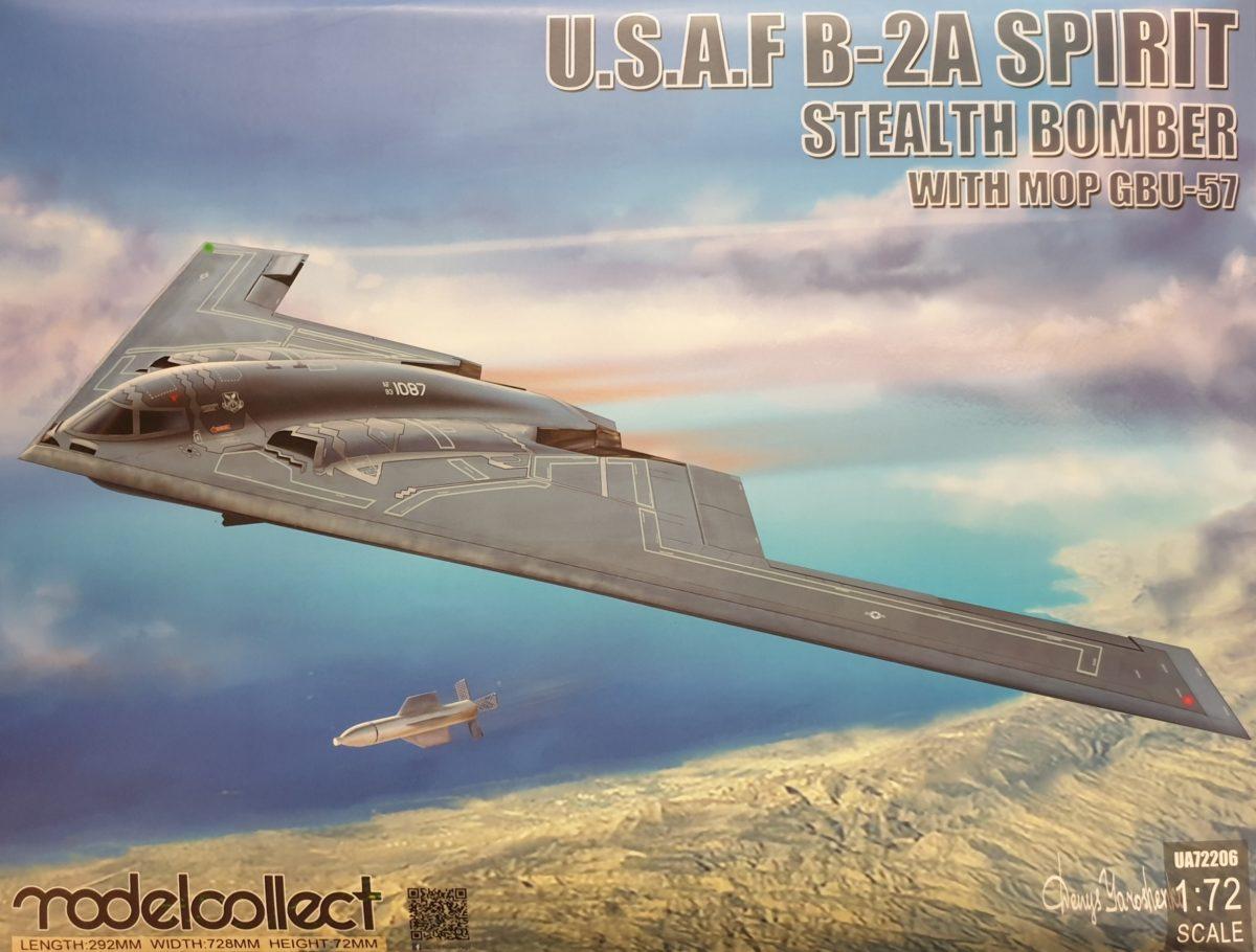 Modelcollect UA72206 U.S.A.F. B-2A Spirit Stealth Bomber w/ MOP GBU-57