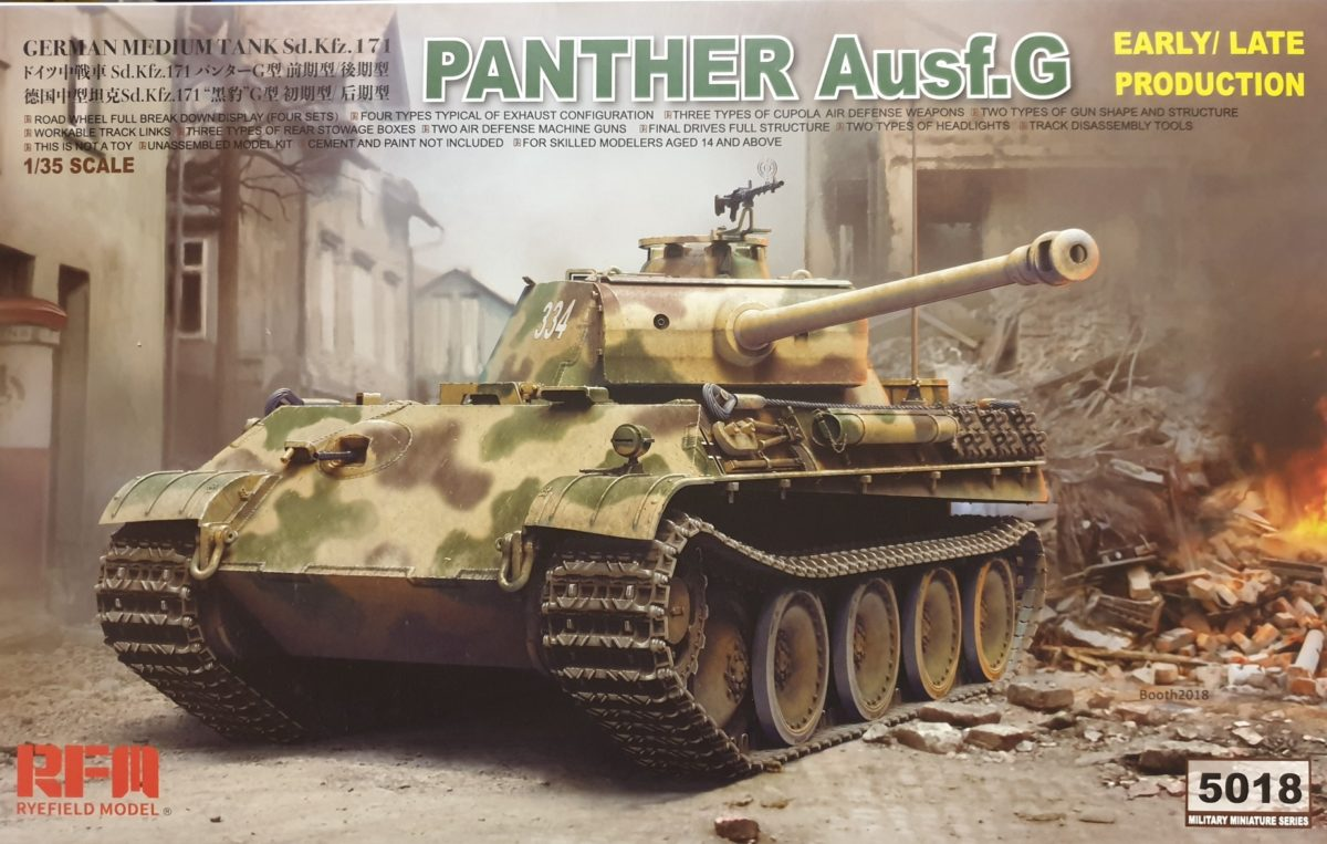 02 Rye Field Model 5018 Panther Ausf.G Early / Late Production