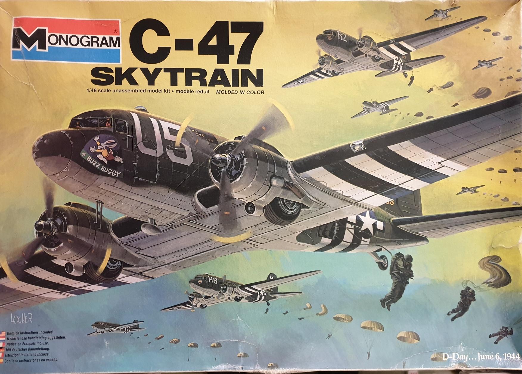 3 Monogram 5603 C-47 Skytrain D-Day June 6 '44