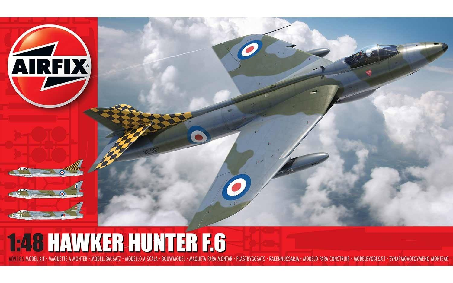 Airfix A09185 Hawker Hunter F.6 met KLU decals